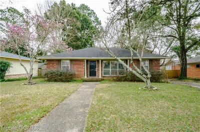 Mobile Single Family Home For Sale: 2905 Brierwood Drive