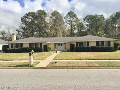 Mobile Single Family Home For Sale: 1271 Spring Valley Drive E