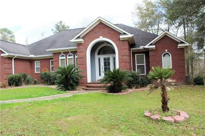 Chunchula Single Family Home For Sale: 10600 Rudolph Gallasch Road