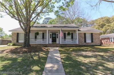 Mobile Single Family Home For Sale: 2940 Cloverland Court