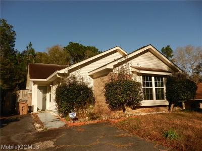 Mobile Single Family Home For Sale: 1816 Spring Brook Court