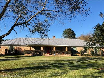 Creola Single Family Home For Sale: 665 Brown Road