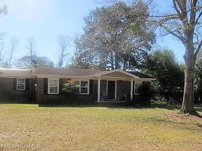 Mobile County Single Family Home For Sale: 10807 Gregg Road