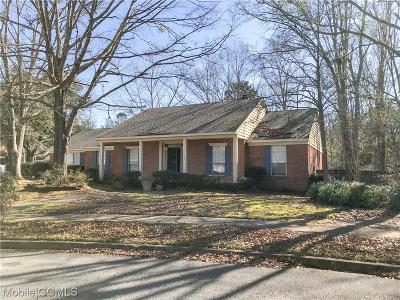 Mobile County Single Family Home For Sale: 1200 Newbury Lane S