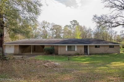 Mobile County Single Family Home For Sale: 123 Sand Hill Drive