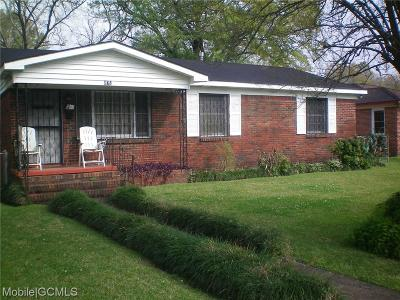 Mobile County Single Family Home For Sale: 872 Summerville Street