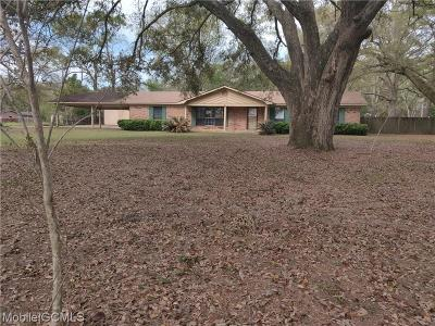 Mobile County Single Family Home For Sale: 6036 Middle Road