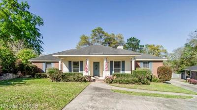 Mobile County Single Family Home For Sale: 6100 Scenic West Drive