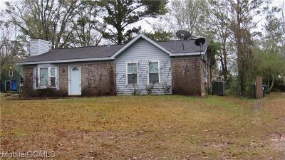 Mobile Single Family Home For Sale: 9841 Shadow Wood Drive
