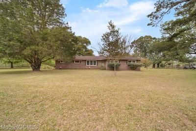 Grand Bay Single Family Home For Sale: 12450 Old Pascagoula Road