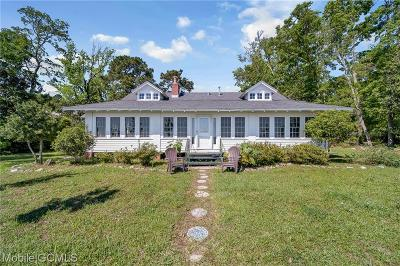 Mobile County Single Family Home For Sale: 6923 Bay Road