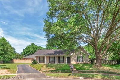 Mobile Single Family Home For Sale: 2909 Cloverland Court