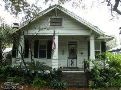 Mobile Single Family Home For Sale: 1005 Church Street