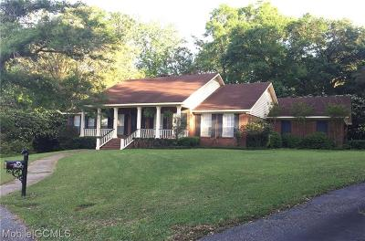 Mobile Single Family Home For Sale: 7651 Gentry Place