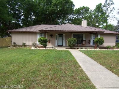 Mobile Single Family Home For Sale: 3360 Zephyr Drive