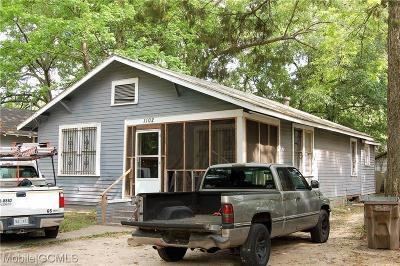 Mobile Single Family Home For Sale: 1102 Choctaw Street