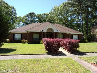 Mobile County Single Family Home For Sale: 4431 Bent Tree Road