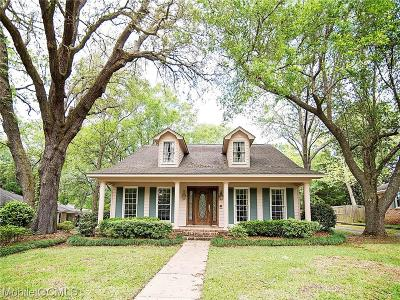 Mobile Single Family Home For Sale: 6032 Cedar Knot Court