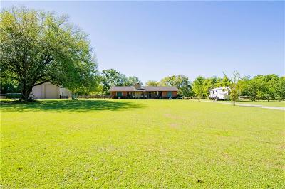 Theodore Single Family Home For Sale: 7601 Old Pascagoula Road