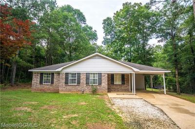 Chunchula Single Family Home For Sale: 9440 Miller Court N