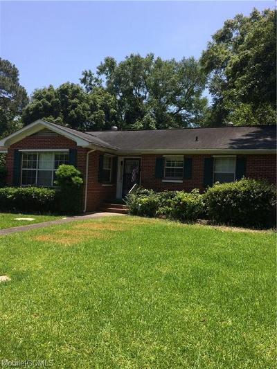 Chickasaw Single Family Home For Sale: 413 Hillside Drive