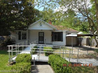 Mobile Single Family Home For Sale: 2868 Ralston Road