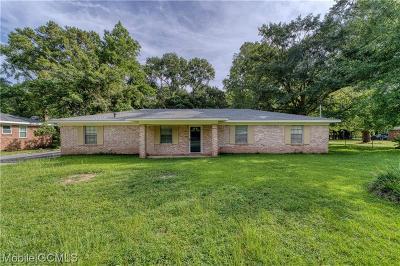 Mobile County Single Family Home For Sale: 3808 Schwartz Lane