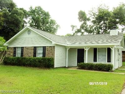 Mobile County Single Family Home For Sale: 9165 Prairie Drive