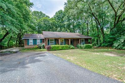 Mobile County Single Family Home For Sale: 1814 Charlene Court