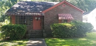 Mobile County Single Family Home For Sale: 2102 Gibson Street