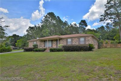 Mobile County Single Family Home For Sale: 10646 Richard Drive