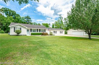 Mobile County Single Family Home For Sale: 13850 Celeste Road