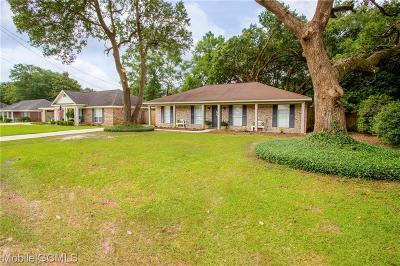 Mobile County Single Family Home For Sale: 6313 Woodside Drive N