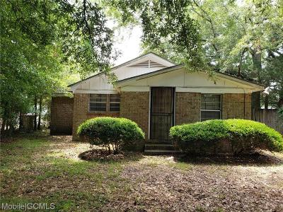 Mobile Single Family Home For Sale: 2466 Pinetree Drive