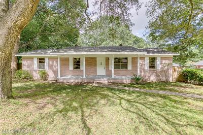 Mobile Single Family Home For Sale: 1204 Stevens Lane