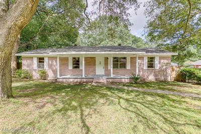Mobile County Single Family Home For Sale: 1204 Stevens Lane
