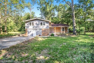 Mobile County Single Family Home For Sale: 6450 Rester Road