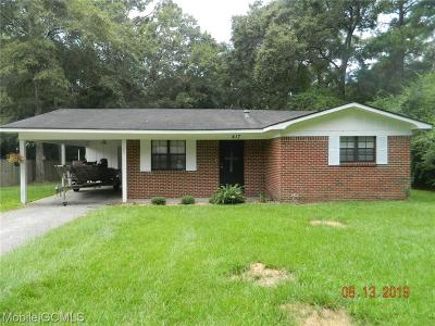 Mobile County Single Family Home For Sale: 417 Mary Street