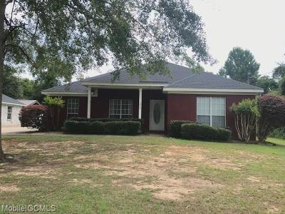 Mobile County Single Family Home For Sale: 278 Dead Lake Road