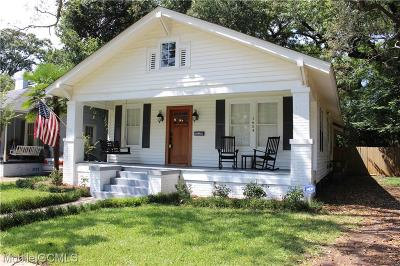 Mobile County Single Family Home For Sale: 1654 Laurel Street
