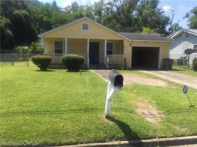 Mobile County Single Family Home For Sale: 2907 Cotton Street