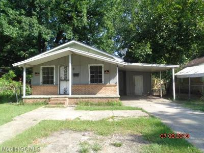 Mobile Single Family Home For Sale: 2014 Selman Street