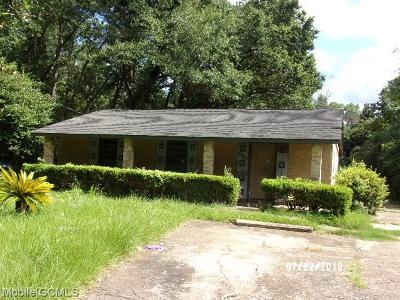 Mobile Single Family Home For Sale: 6751 Victor Road