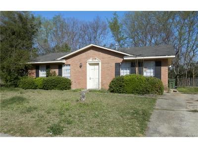 Montgomery AL Single Family Home For Sale: $31,000
