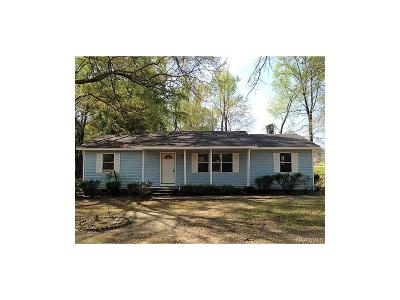 Wetumpka Single Family Home For Sale: 801 Zeigler Road