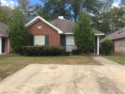 Montgomery AL Single Family Home For Sale: $63,700