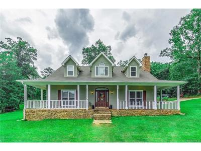 Wetumpka Single Family Home For Sale: 68 Overlook Valley Road