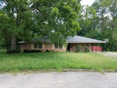 Montgomery AL Single Family Home For Sale: $37,000