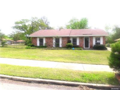 Montgomery AL Single Family Home For Sale: $41,000