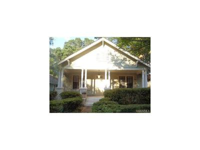 Montgomery AL Single Family Home For Sale: $65,100